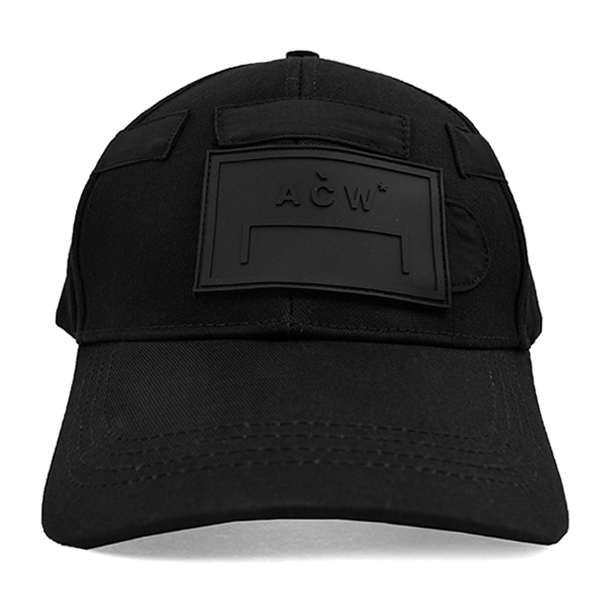 CLASSIC CAP WITH RUBBER LOGO/BLACK