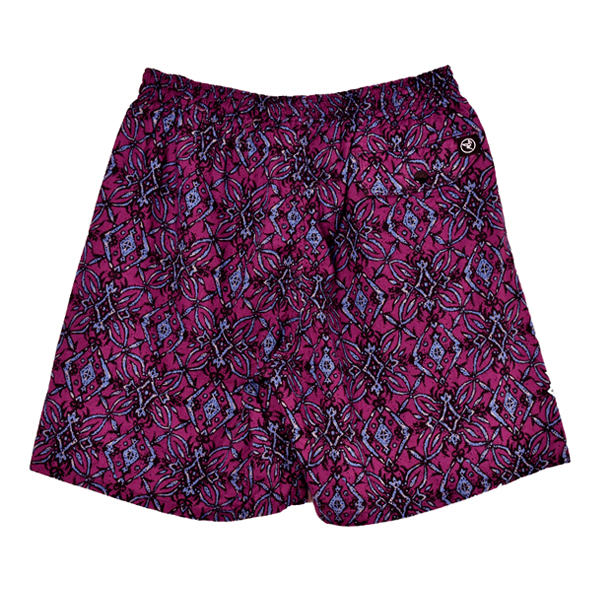 ARABESQUE PATTERN SHORTS/PURPLE