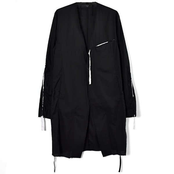 RIBBON COAT / BLK/WHT