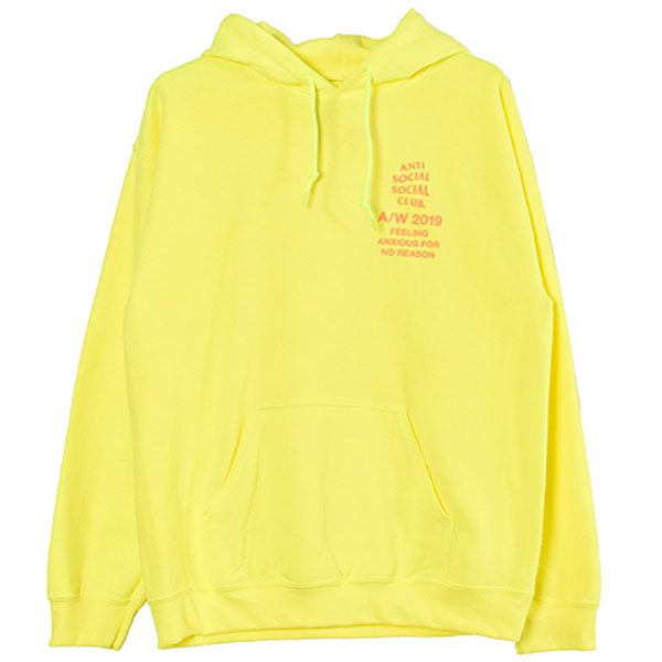 FEELING ANXIOUS HOODIE/NEON YELLOW