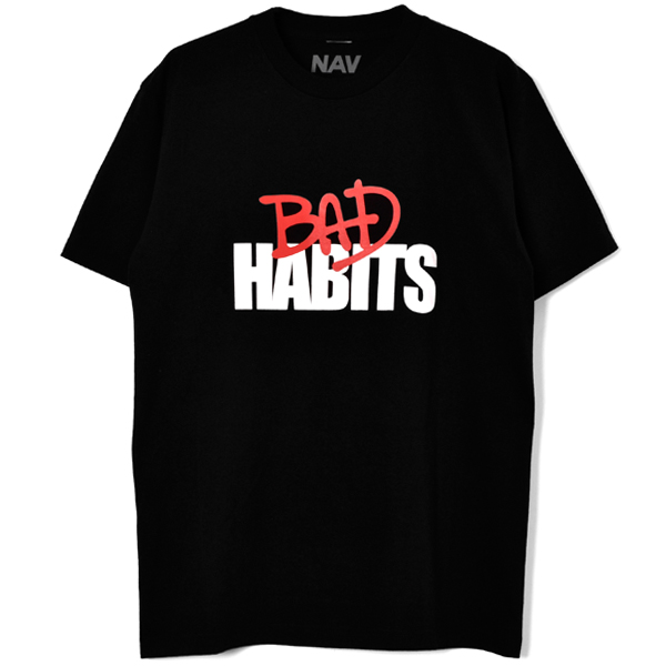BAD HABITS SS TEE/BLACK/RED