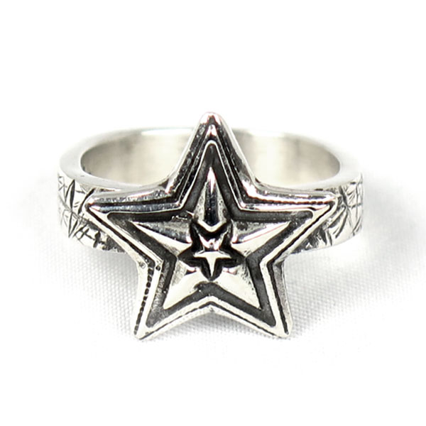 Tiny Star in Star w /Cat Scratch(Rings)