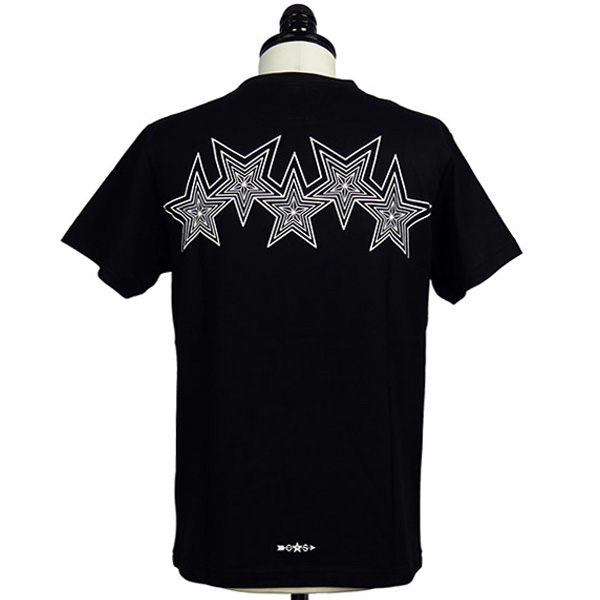[再入荷]Interlocking Star Tee/Black×White