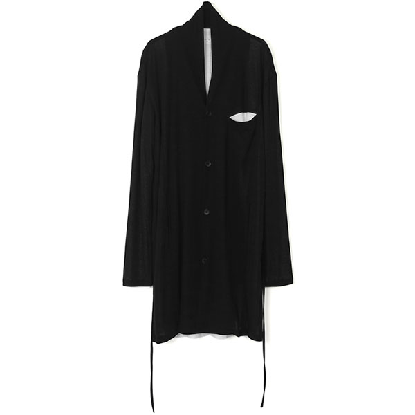 LAYERED LONG CARDIGAN / BLKWHT