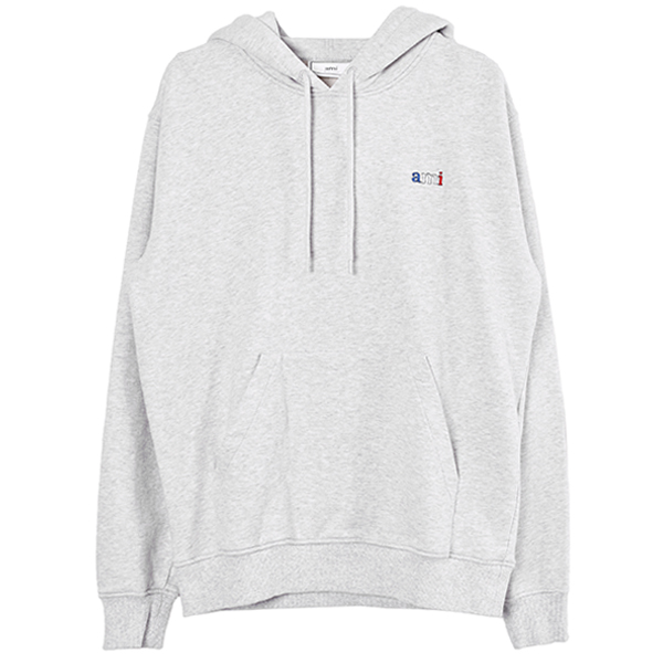 AMI  EMBROIDERY HOODIE/GRAY