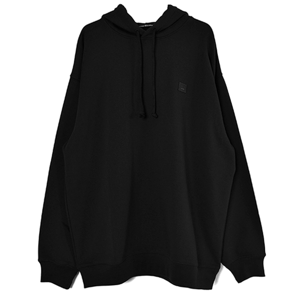 Oversized hooded sweatshirt/BLACK