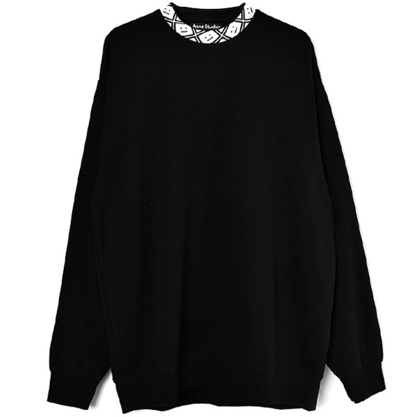 Oversized sweatshirt/BLACK