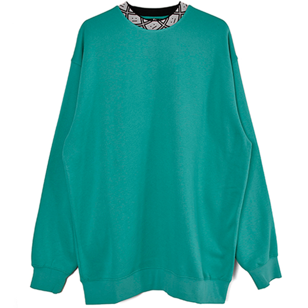 Oversized sweatshirt/JADE GREEN