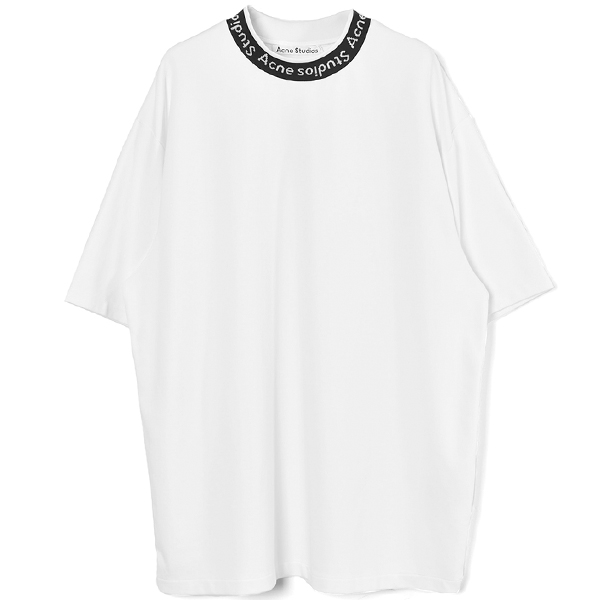 Logo jacquard t-shirt/OPTIC WHITE
