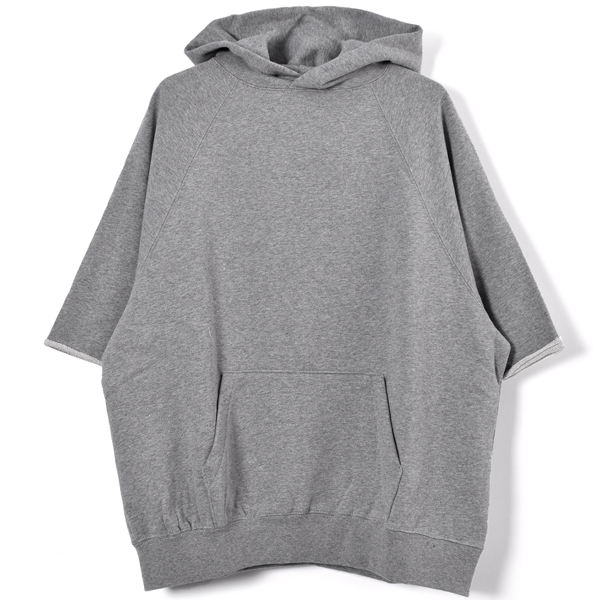 dce33e5a25 PULLOVER HOODIE CUT OFF  GRAY