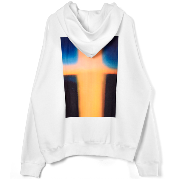 PHOTO PULLOVER HOODIE/WHITE