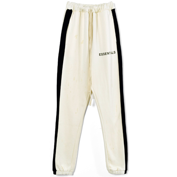 SIDE STRIPE SWEATPANTS/BUTTER CREAM