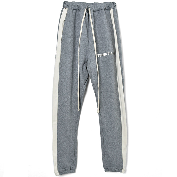 SIDE STRIPE SWEATPANTS/LIGHT HEATHER