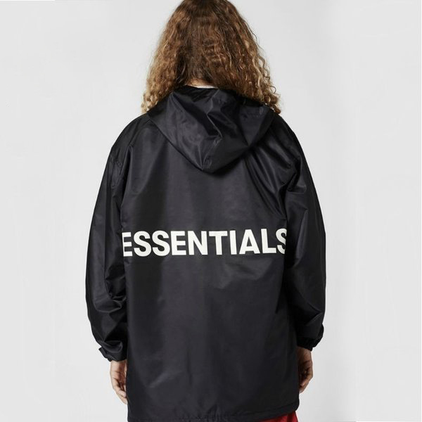 FOG HOODED COACH JACKET/BLACK