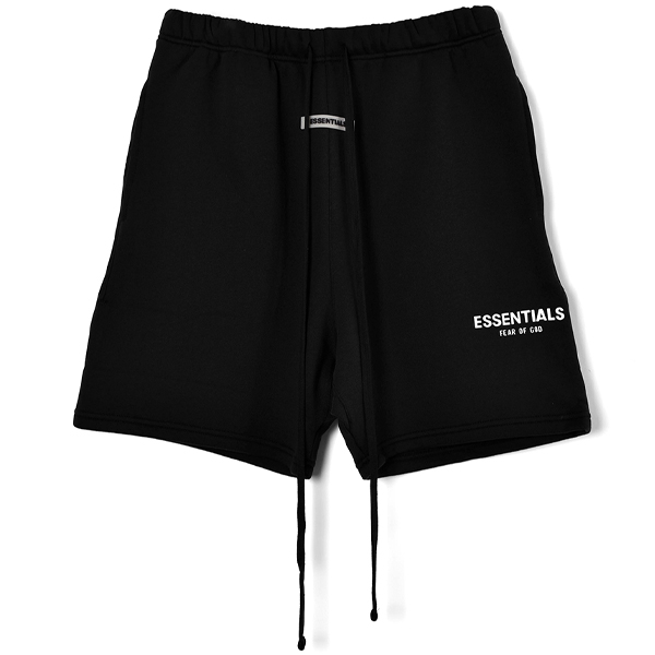 RUBBER TAG PRINT SWEAT SHORTS/BLACK