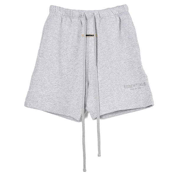 RUBBER TAG PRINT SWEAT SHORTS/H.GRAY