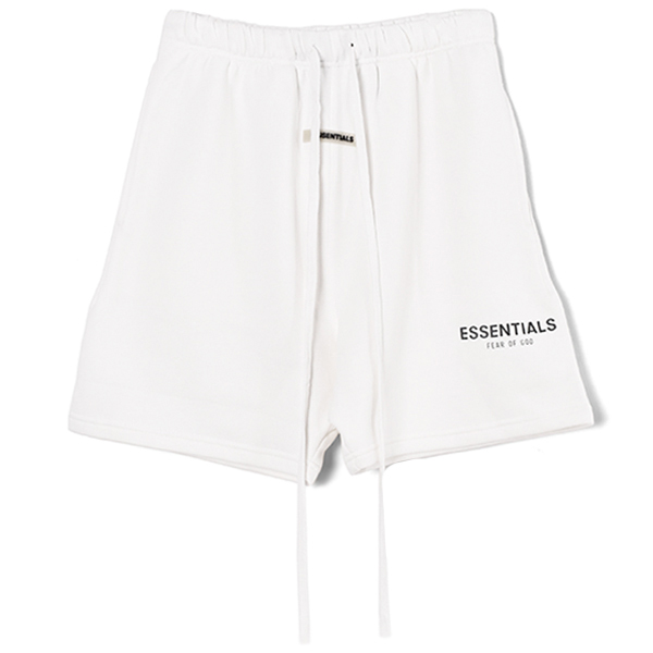 RUBBER TAG PRINT SWEAT SHORTS/WHITE