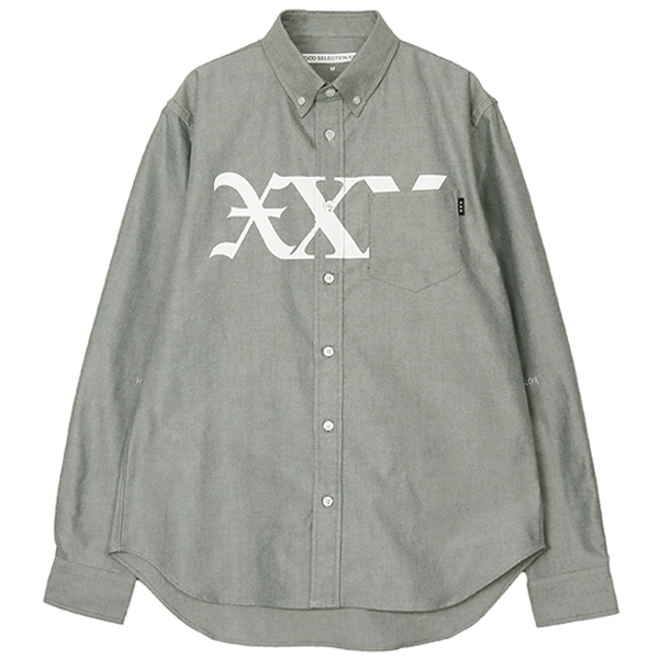 OXFORD SHIRT/BLACK(GX-A19-1802-255)