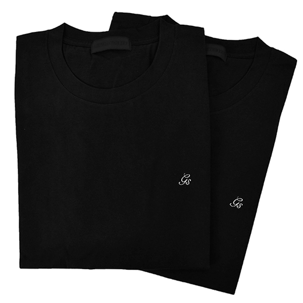 2PACK T-SHIRT/BLACK(GX-A20-TT-01)