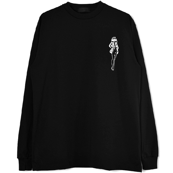 L/S T-SHIRT/BLACK(GX-A21-LT-01)