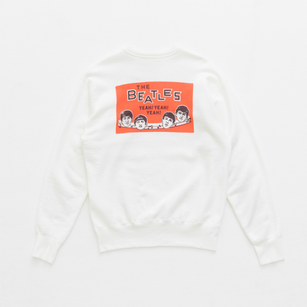 BEATLES SWEAT SHIRT/WHITE