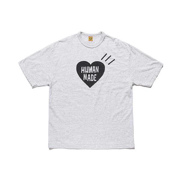 HEART LOGO T-SHIRT/GRAY