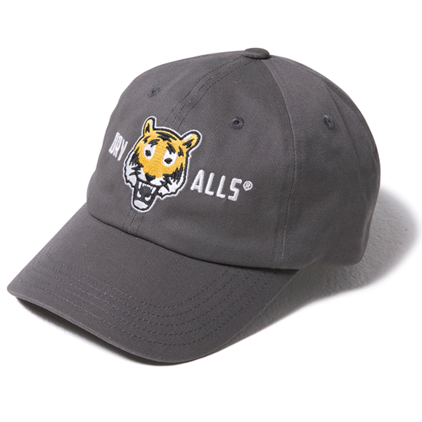 TIGER LOGO PATCH 6PANEL CAP/GRAY