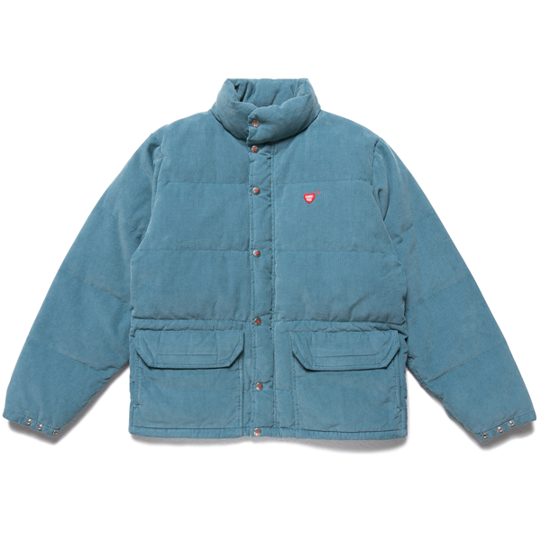 CORDUROY DOWN JACKET/BLUE