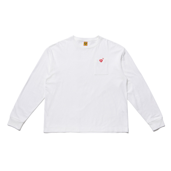 POCKET LONG-T/WHITE