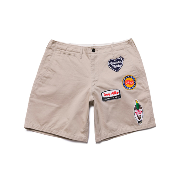 MILITARY WAPPEN CHINO SHORT / BEIGE