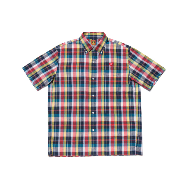 CHECK B.D. SS SHIRT/NAVY