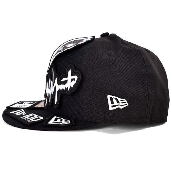 yohji yamamoto×NEW ERA 59FIFTY SERGE VELCRO PATCH 100TH/BLACK