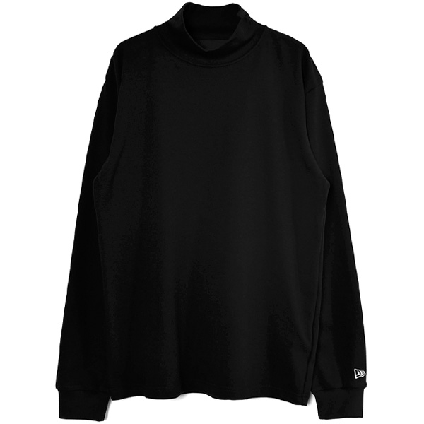 yohji yamamoto×NEW ERA MINI LOGO HIGH COLLAR L/S PERFORMANCE TEE/BLACK