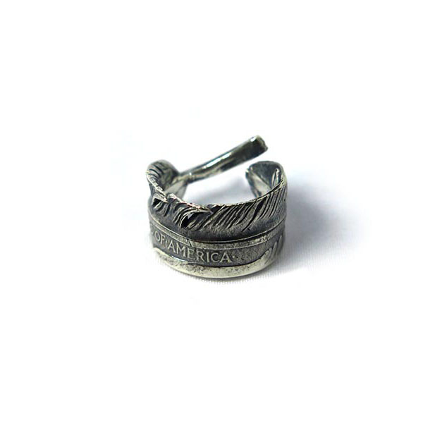 HALF DOLLAR FEATHER RING S