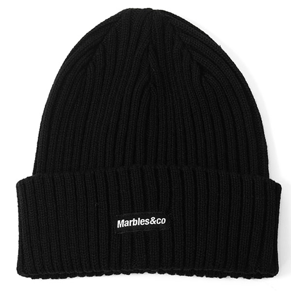 WOOL KNIT CAP/BLACK(MAC-A1802)