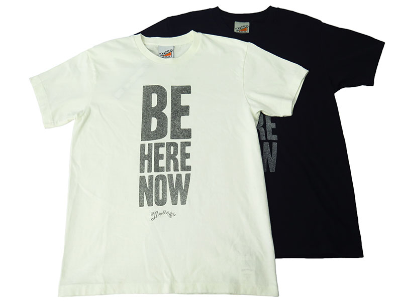 S/S RAFFI JERSEY T-SHIRT(BE HERE NOW)(MCS-A1707)