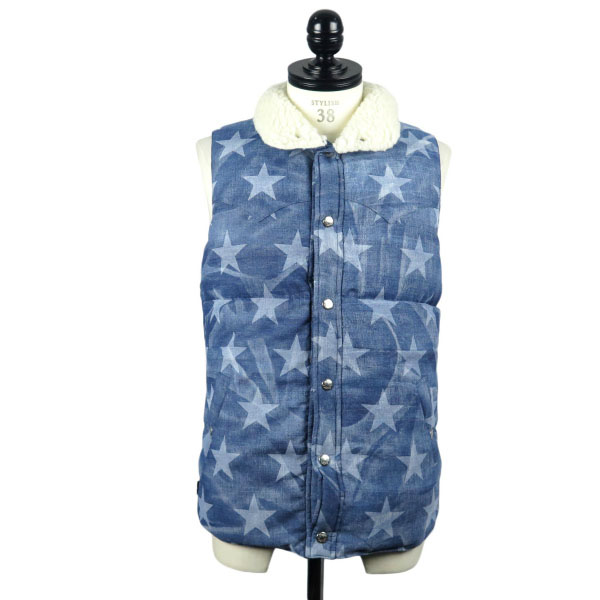[Marbles×R&Co.]別注 STAR DENIM DOWN VEST