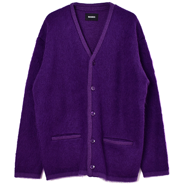 MOHAIR CARDIGAN/PURPLE