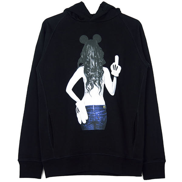 imprime Mickey mouse HOOD/BLACK