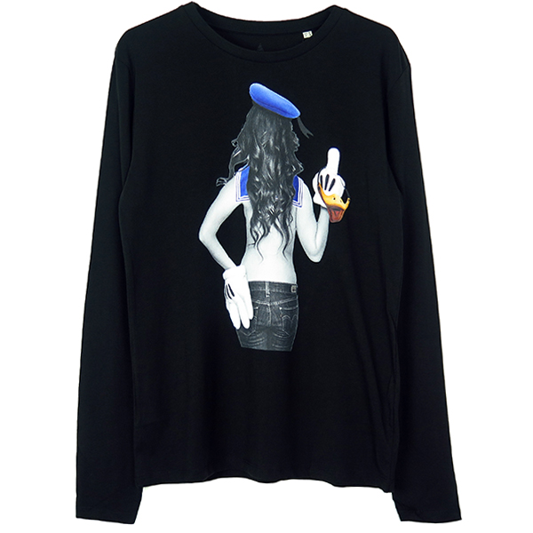 sailor girl L/S T-SH/BLACK