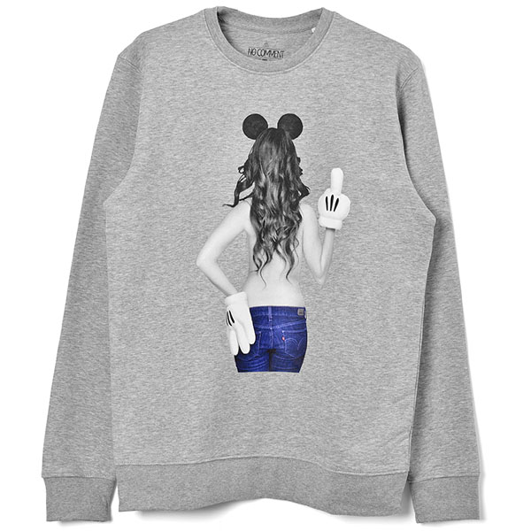 imprime Mickey mouse-1 SWEAT/GRAY