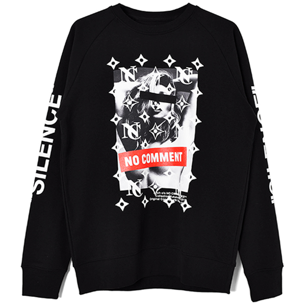 silence sleeve SWEAT/BLACK