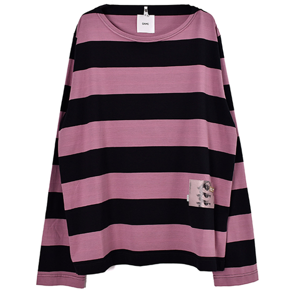STRIPED NEO TOP/BLACK/PURPLE