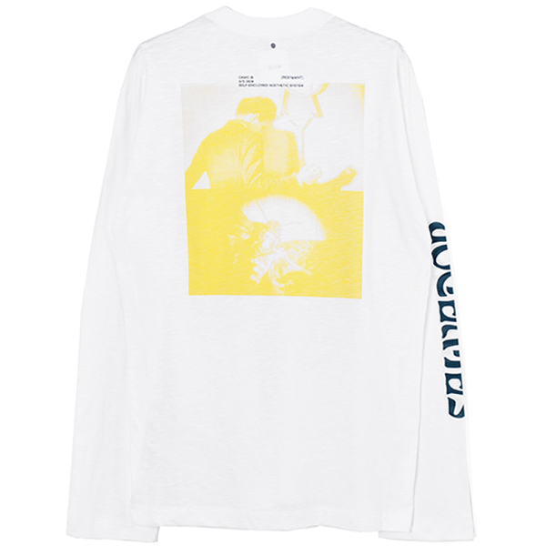 SURERREAL L/S T-SHIRT/WHITE