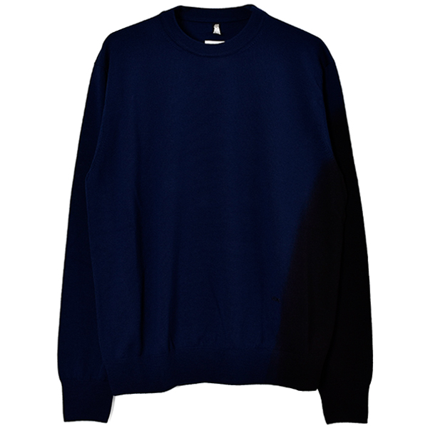 GRADIENT CREWNECK KNIT SWEATER/BLUE