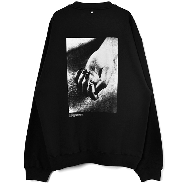 DAIDO MORIYAMA CREWNECK SWEAT SHIRT/BLACK