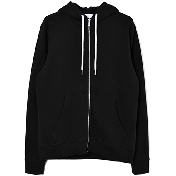 ZIP HOODED/BLACK