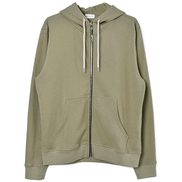 ZIP HOODED/GREEN