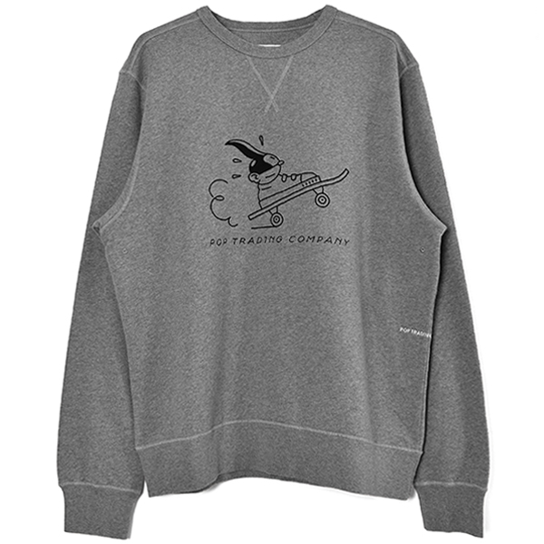 Pop Joost Swarte Crewneck Sweat/Heather Grey