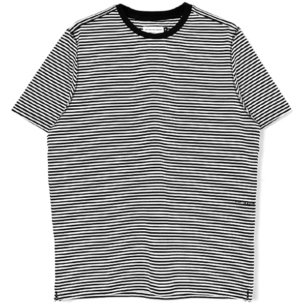 Pop Striped Logo T-Shirt/BLACKXWHITE/White